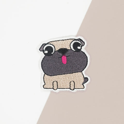 Pug Iron On Patch