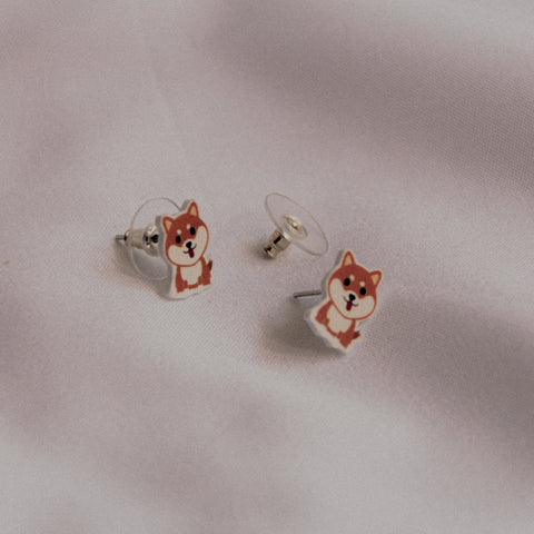 Woofpacks.co X The Tipsy Styler Shiba Earring