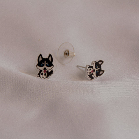 Woofpacks.co X The Tipsy Styler Husky Earring