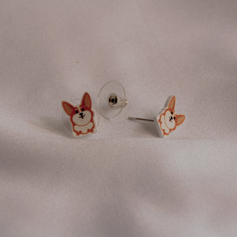 Woofpacks.co X The Tipsy Styler Corgi Earring
