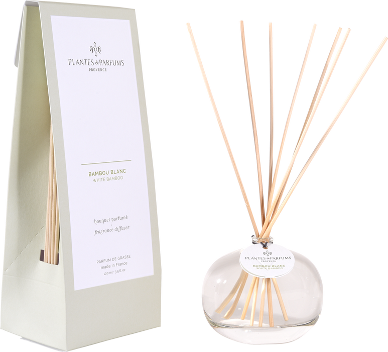 Plantes & Parfums -100ml Fragrance Diffuser - White Bamboo