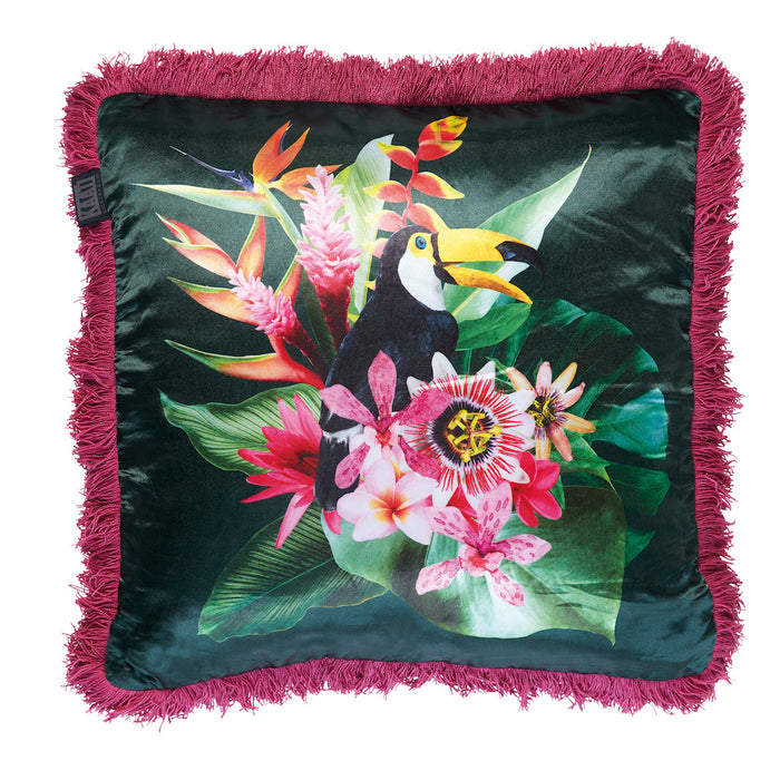 Bedding House - Jungle Fever Filled Cushion -  Pink