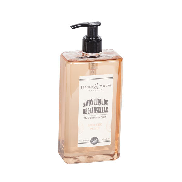Plantes & Parfums - Natural Marseille Liquid Soap 500ml - Peach