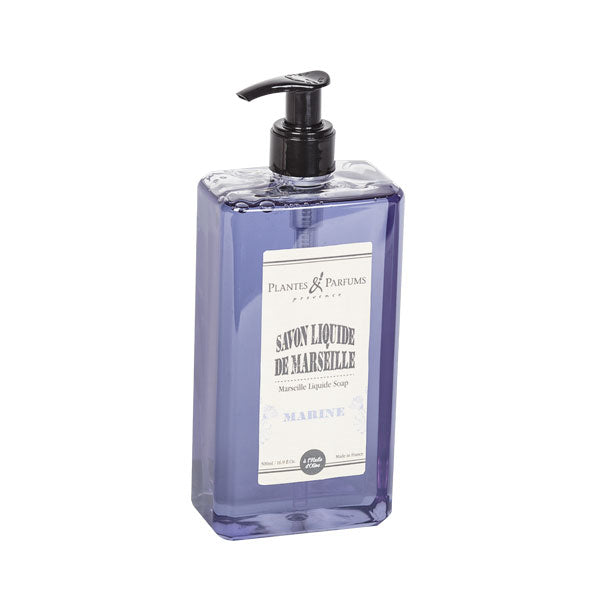 Plantes & Parfums - Natural Marseille Liquid Soap 500ml - Marine