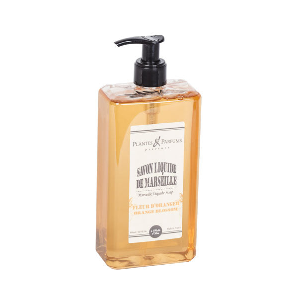Plantes & Parfums - Natura Marseille Liquid Soap 500ml -  Orange Blossom