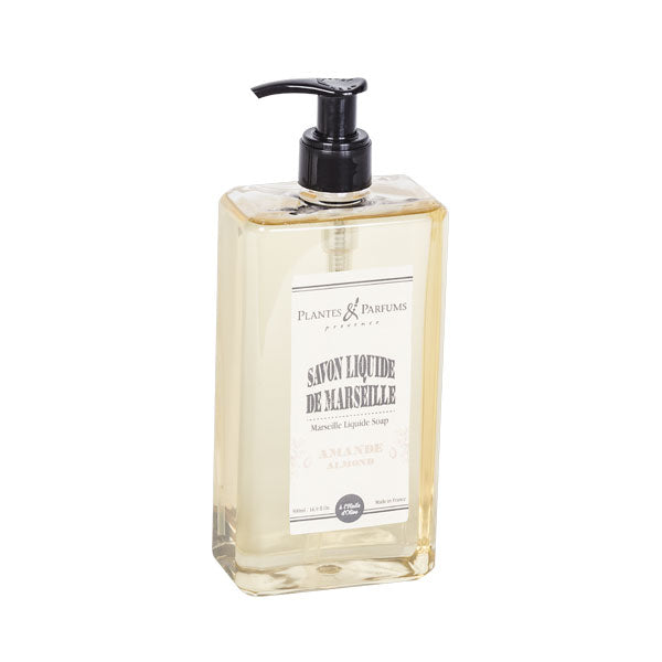 Plantes & Parfums -Natural Marseille Liquid Soap 500ml - Almond