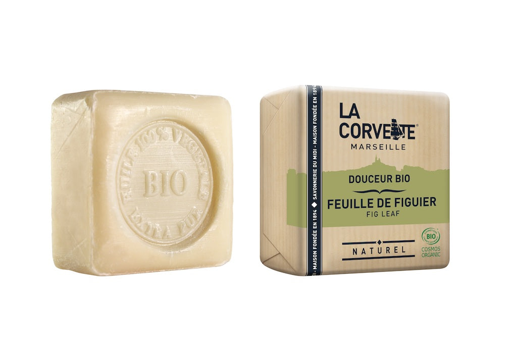La Corvette Marseille - Natural & Organic Gentle Fig Leaf Soap 100g