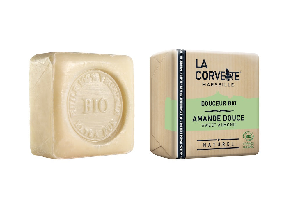 La Corvette Marseille - Natural & Organic Sweet Almond Soap Bar - 100g