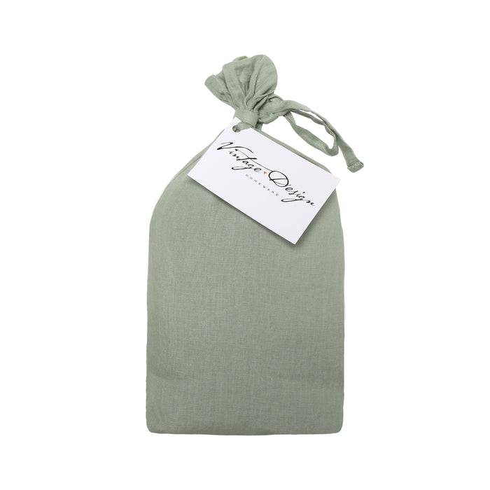 100% French Flax Linen Euro Pillowcase (5 colours available)