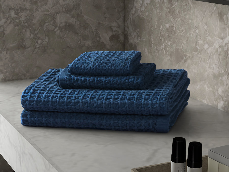 Day Spa 4 Piece Cotton Waffle Towel Set (4 colours available)