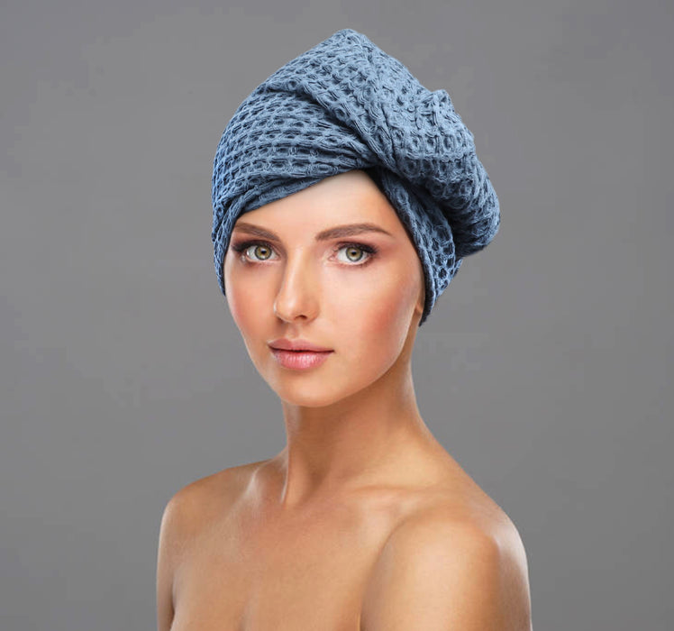 Cotton Waffle Hair Wrap (3 colours available)