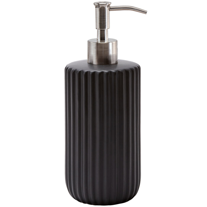 Aquanova - RIBBA Black Soap Dispenser