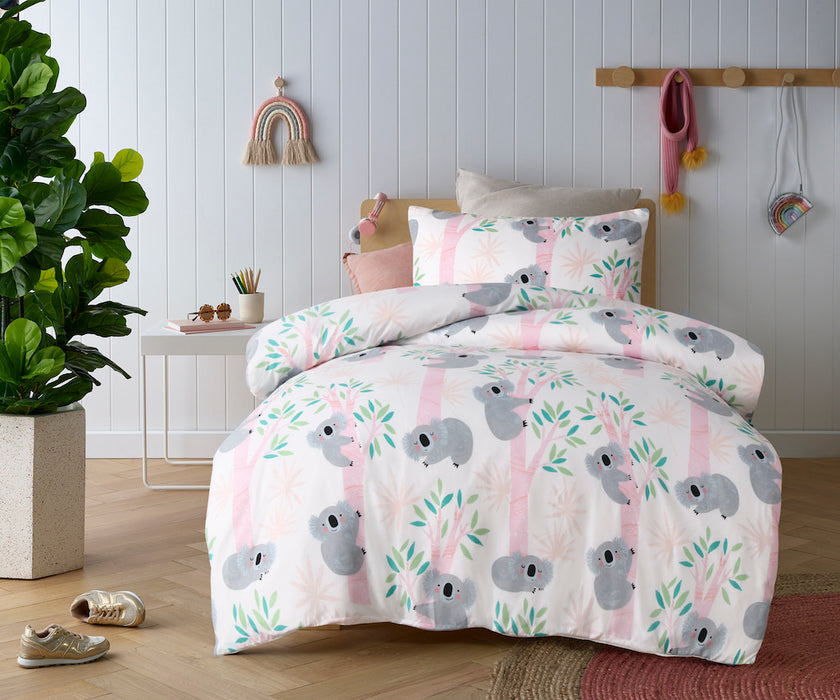 Happy Kids - Glow in the Dark Quilt Cover Set- Lovely Koalas