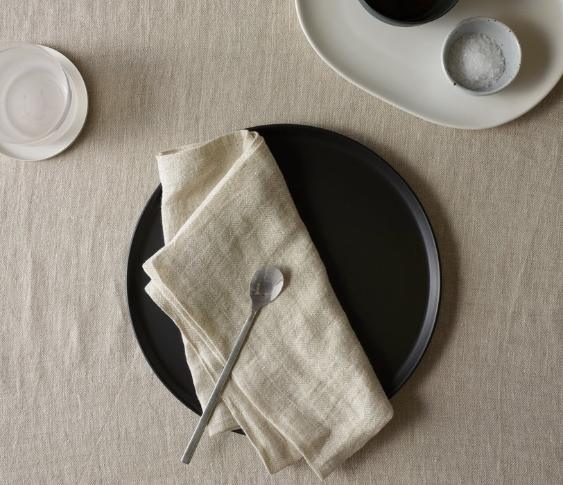 Diamond Jacquard 100% French Linen- Set of 4 Napkins (4 colours available)