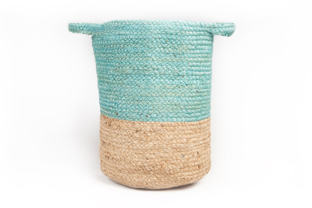 Kendi Hand Loomed Natural Basket (2 colours available)