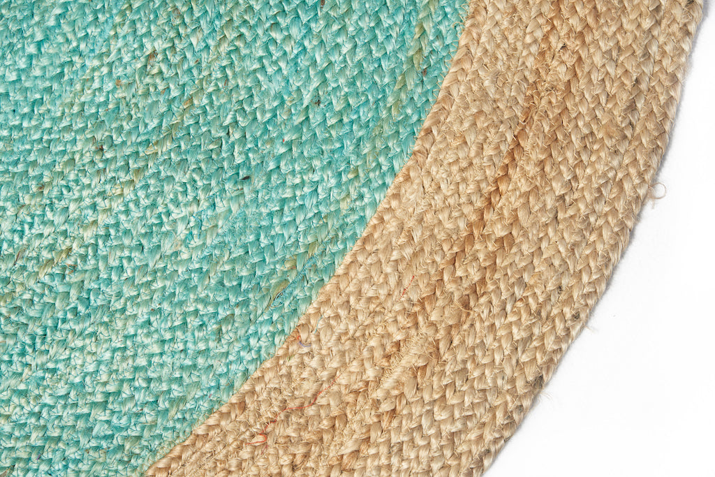Kendi 100% Jute Hand Loom Round Rug (2 colours available)