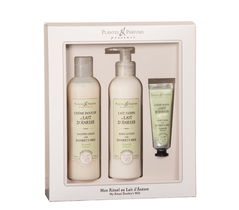 Plantes & Parfums -Donkey's Milk and Sweet Almond Oil Extract Gift Box
