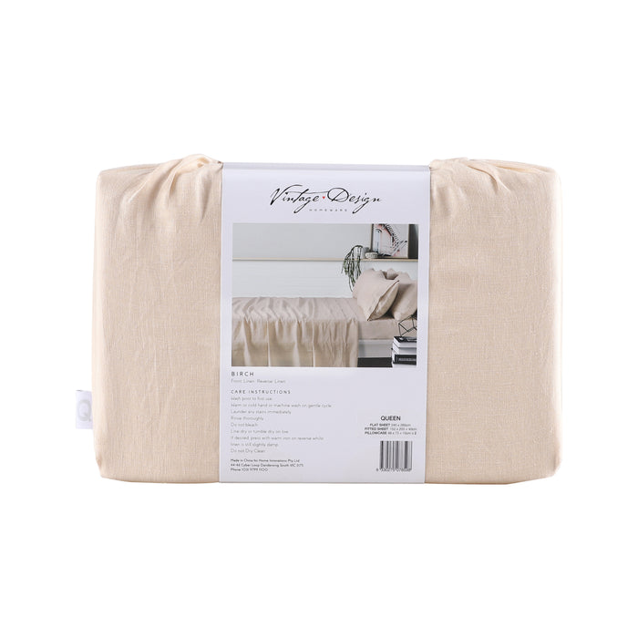 100% French Flax Linen Sheet Set - Birch