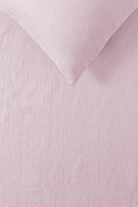 100% French Flax Linen Quilt Cover Set - Blush