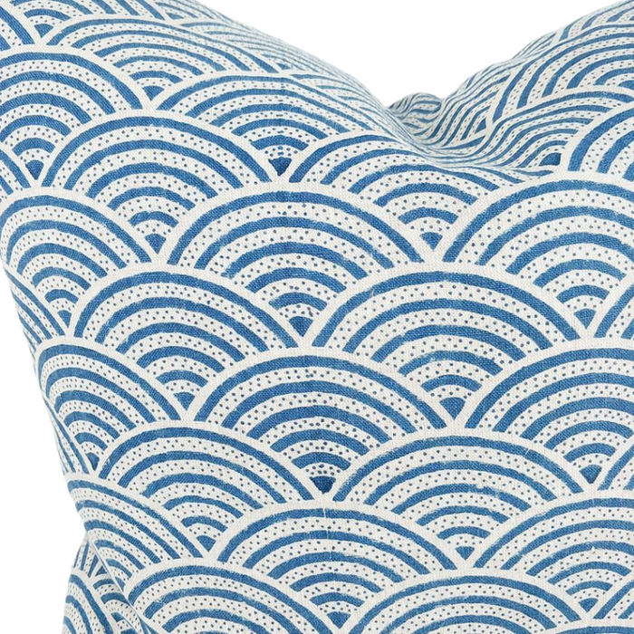 Artisan Hand Block Printed Feather Filled Cushion - Japandi