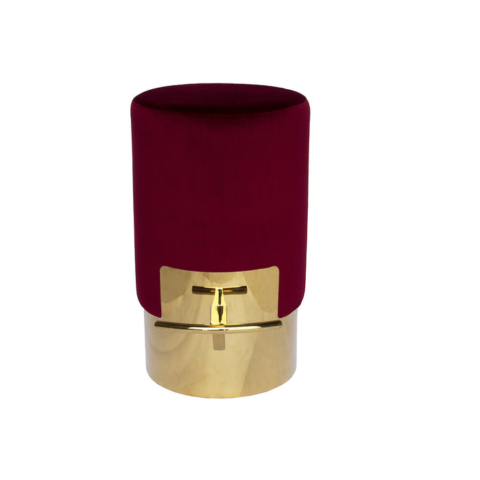 Cosmo Bar Stool With Polished Gold Base - Marsala