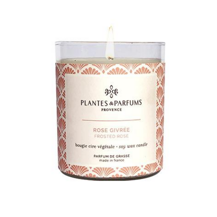 Plantes & Parfums -180g Handcrafted Perfumed Candle - Frosted Rose