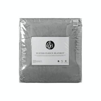 Warm Sherpa Fleece Blanket - Grey