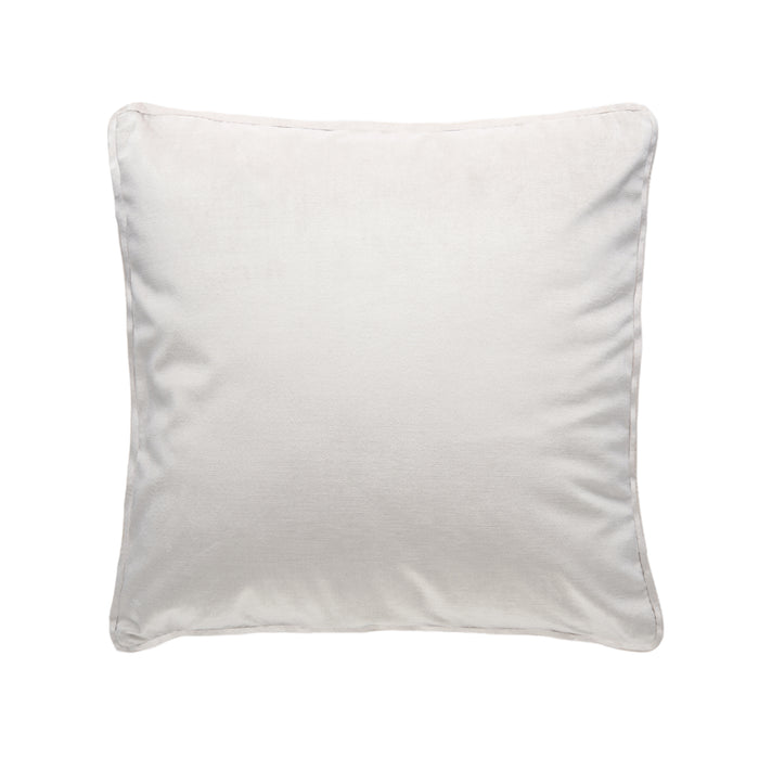 Heavy Weight Velvet Feather Filled Cushion - Cream