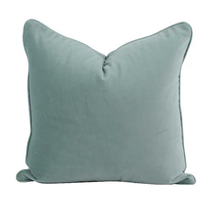Luxe Velvet Duck Feather Filled Cushion - Ice Blue