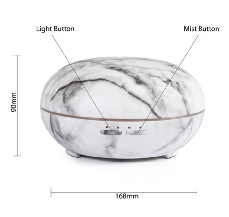 Round Marble Aroma Ultrasonic 300ml Diffuser