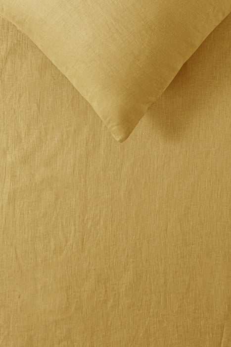 NEW 100% French Flax Linen Sheet Set - Ochre