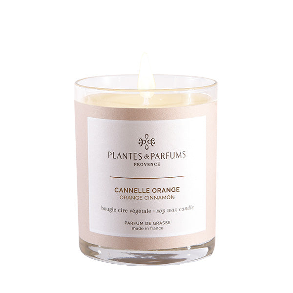 Plantes & Parfums -180g Handcrafted Perfumed Candle - Orange Cinnamon