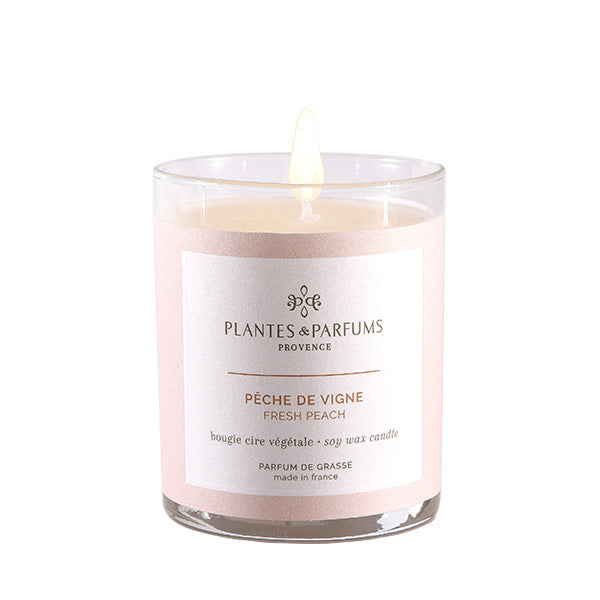 Plantes & Parfums -180g Handcrafted Perfumed Candle - Fresh Peach
