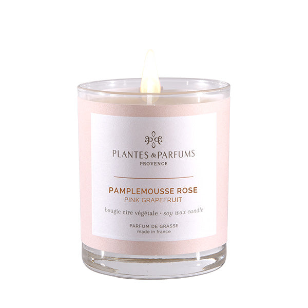 Plantes & Parfums -180g Handcrafted Perfumed Candle - Pink Grapefruit