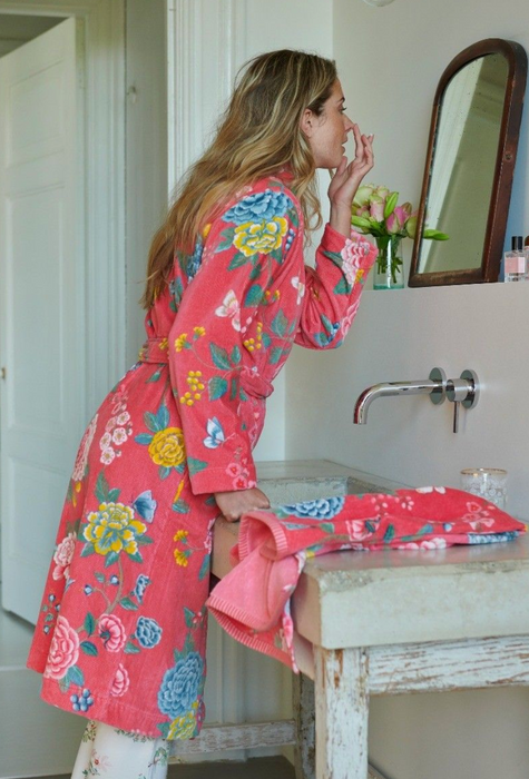 Pip Studio - Good Evening Bathrobe - Coral