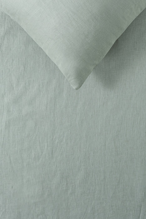 100% French Flax Linen Quilt Cover Set - Sage