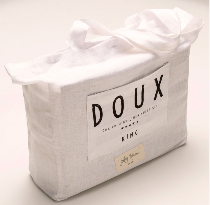 Jardin Quilted Velvet Quilt Cover: DOUX 100% Pure French Flax Linen Quilt Cover Set