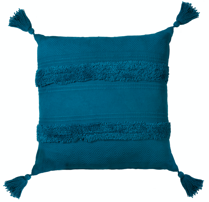 Indra Tassel 100% Cotton Cushion (3 colours available)