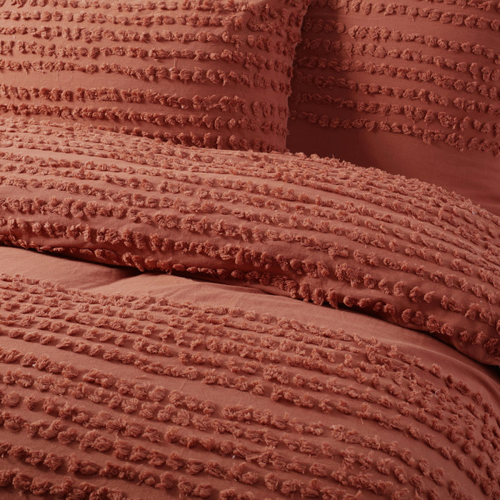 Betty 100% Cotton Quilt Cover Set- Tobacco