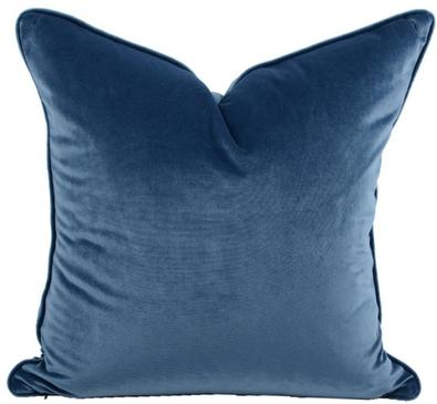 Luxe Velvet Feather Filled Cushion - Deep Blue