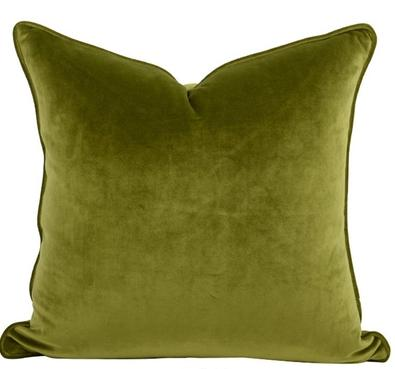 Luxe Velvet Feather Filled Cushion - Forest Green
