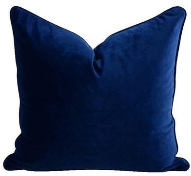 Luxe Velvet Feather Filled Cushion - Navy