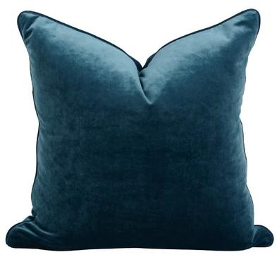 Luxe Velvet Feather Filled Cushion - Sapphire