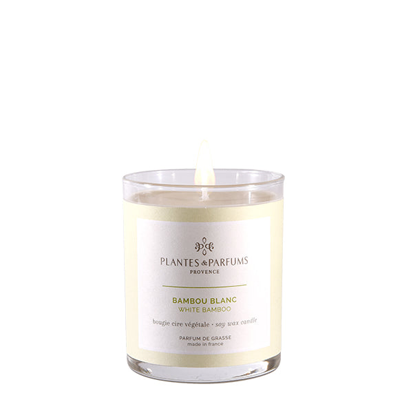 Plantes & Parfums -180g Handcrafted Perfumed Candle - White Bamboo