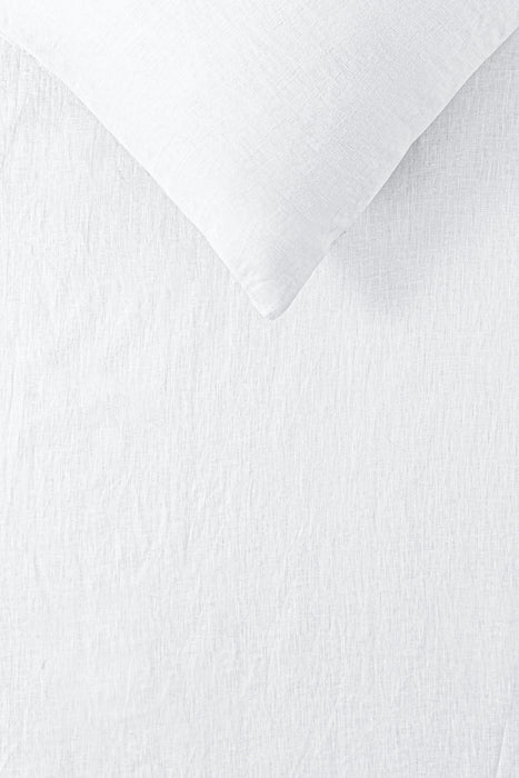 100% French Flax Linen Quilt Cover Set - White