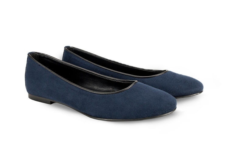 Fera libens shoes woman collection vegan eco friendly animal free ballerina calipso sapphire blue