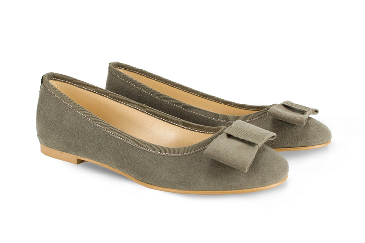Fera libens shoes woman collection vegan eco friendly animal free ballerina calipso moss green