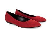 Fera Libens women's collection vegan shoes animal free ballerinas maia venetian red