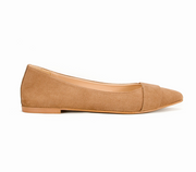 Fera libens women's collection vegan shoes animal free ballerinas maia camel brown