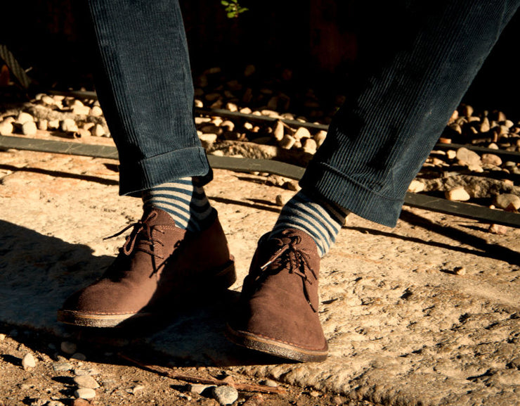 Anteo Coffee Brown Desert Shoes -30%